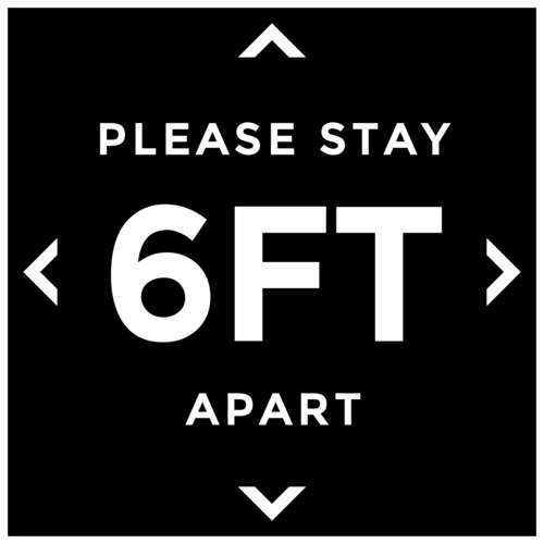 """Please Stay 6 Feet Apart"" Social Distancing Floor Label"