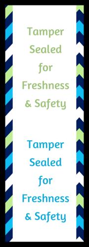 Chevron Tamper-Sealed Food Delivery Label