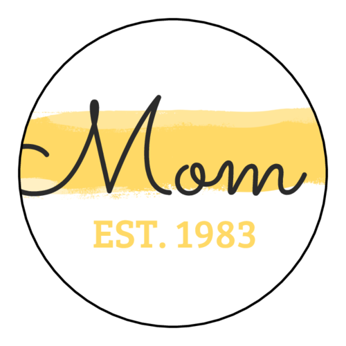 """Mom"" Paint Stroke Mother's Day Gift Sticker"