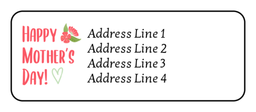 """Happy Mother's Day"" Address Label"