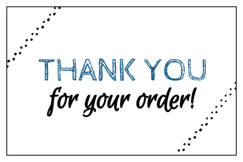 Decorative Order Appreciation Small Business Sticker