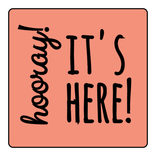 """Hooray it's here"" Decorative Small Business Shipping Label"