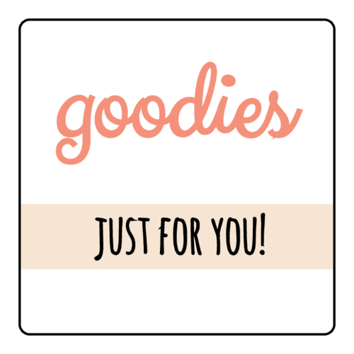 """Goodies Just For You"" Decorative Small Business Shipping Label"