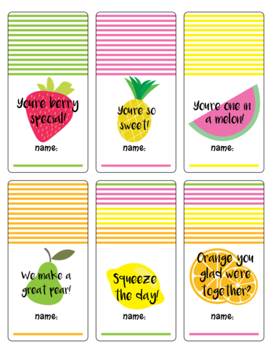 Summer Lunch Bag Labels Printable