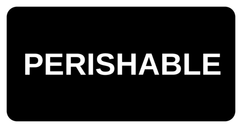 """Perishable"" Shipping Label"