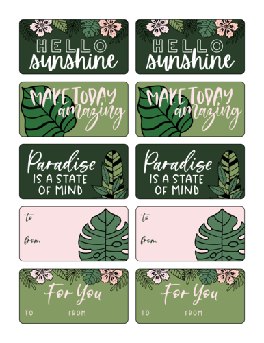 Florid Assortment of Gift Tag Labels