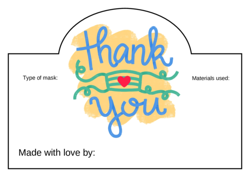 "Face Mask ""Thank You"" Label"