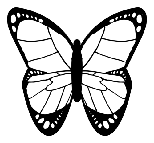 Color-In Butterfly Label