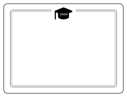 Mortar Board Write-In Yearbook Label