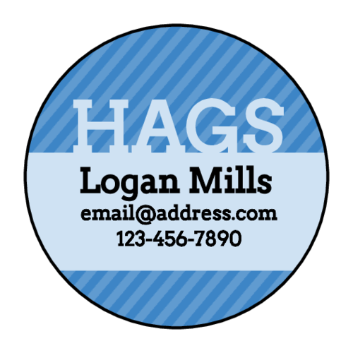 """HAGS"" Yearbook Contact Label"