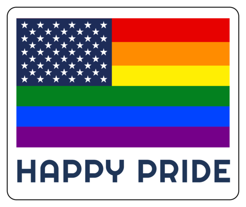 Happy Pride Flag Sticker