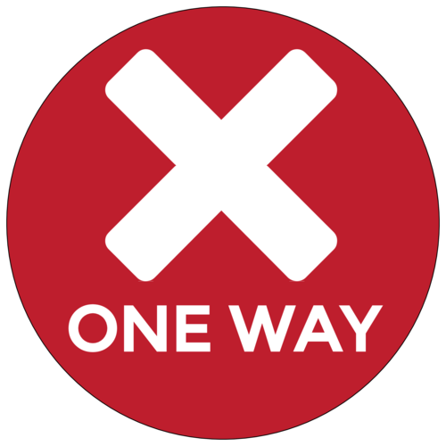 "Red ""One Way"" Shopping Aisle Floor Decal"