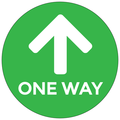 "Green ""One Way"" Shopping Aisle Floor Decal"