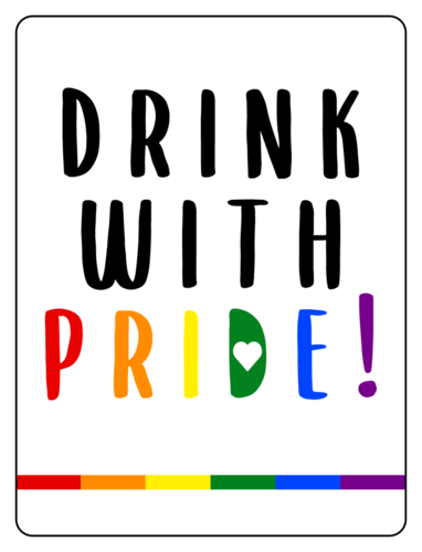 """Drink with Pride"" Beer Bottle Label"
