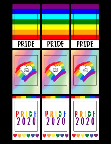 Pride FujiFilm Instax Frame Labels