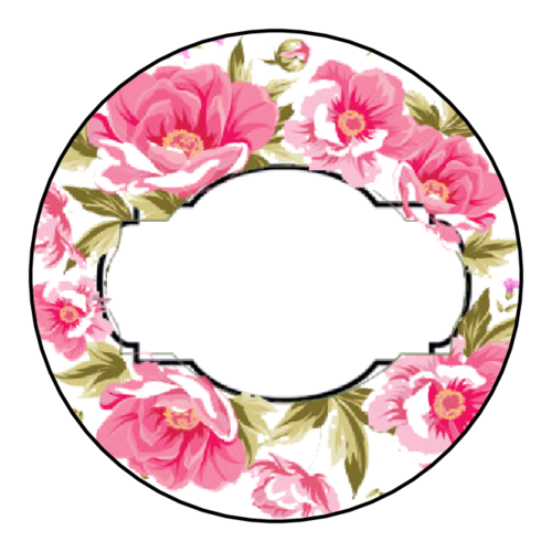 Write-In Floral Circle Labels