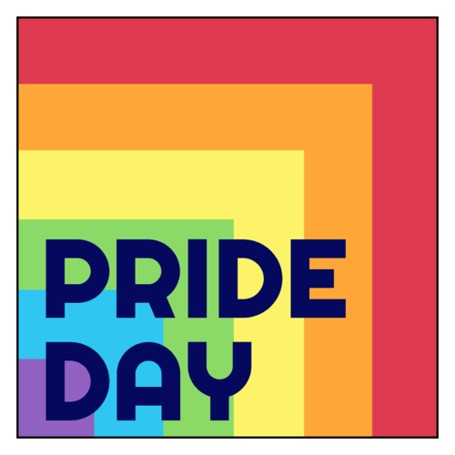 """Pride Day"" Rainbow Sticker"