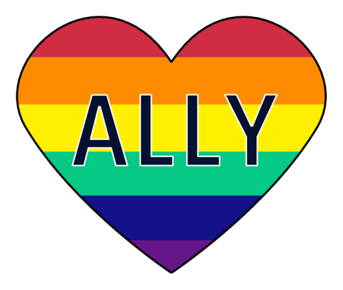 "LGBT ""ALLY"" Heart-Shaped Label"