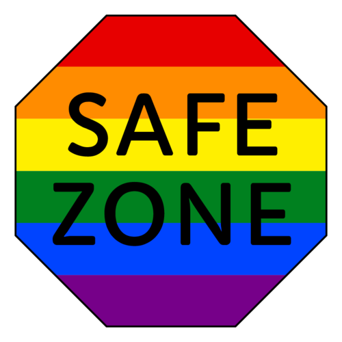 """Safe Zone"" LGBTQ Sticker"