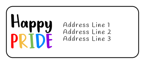 """Happy Pride"" Address Label"