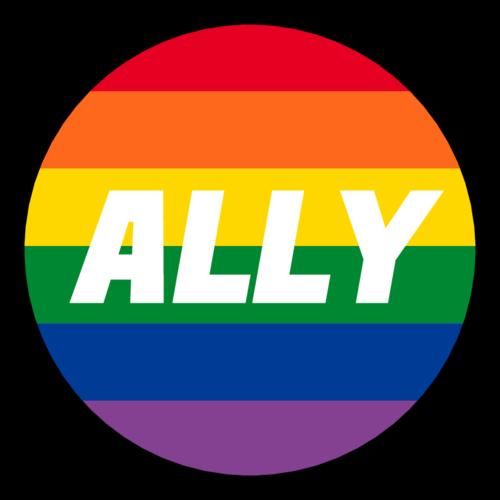 """ALLY"" LGBT Circle Label"