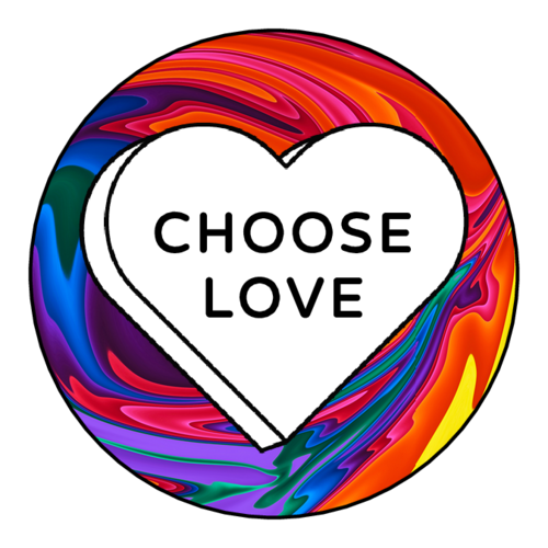 """Choose Love"" Pride Sticker"