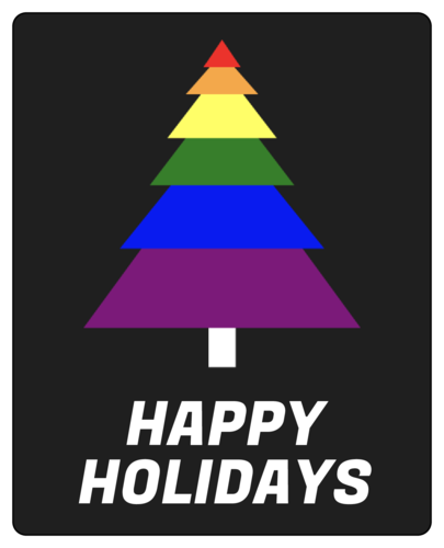 "LGBT ""Happy Holidays"" Wine Bottle Label"