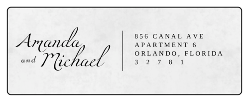 Elegant Address Label