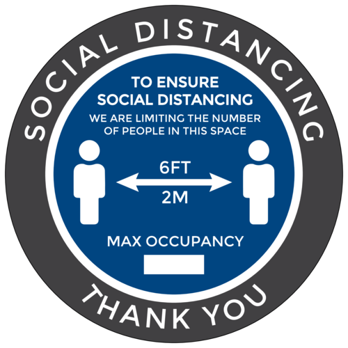 Max Occupancy Social Distancing Label
