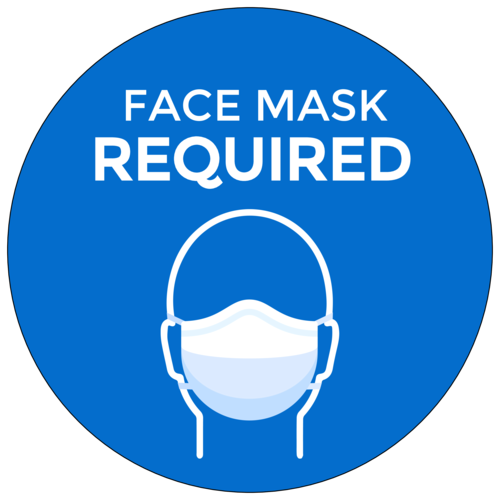"""Face Mask Required"" Label"
