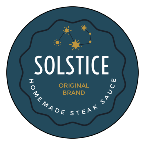 """Solstice"" Celestial Steak Sauce Label"