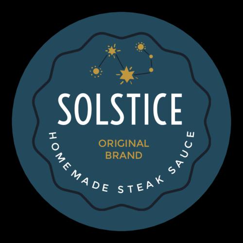 """Solstice"" Celestial Steak Sauce Label"