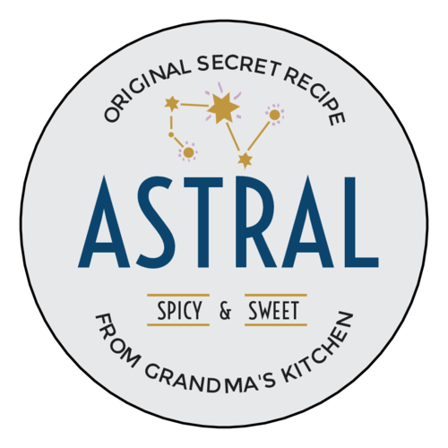 """Astral"" Celestial Sauce Bottle Label"