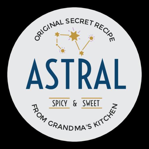 """Astral"" Celestial Sauce Bottle Label"