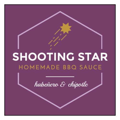 """Shooting Star"" Celestial Barbecue Sauce Label"