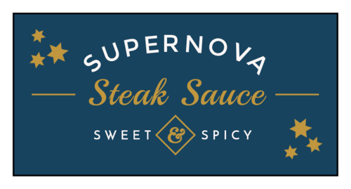 """Supernova"" Celestial Barbecue Sauce Bottle Label"