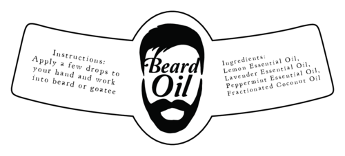 Beard Oil Gift Label