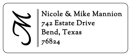 Lateral Initial Address Label