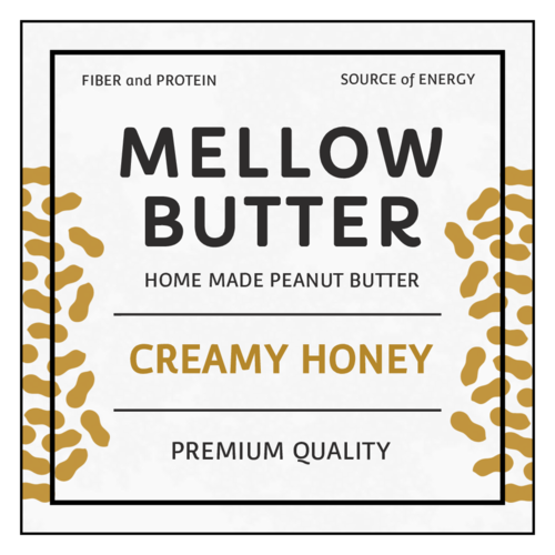 Peanut Butter Product Label