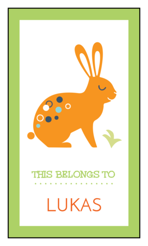 """This Belongs To"" Bold Rabbit School Supply Label"