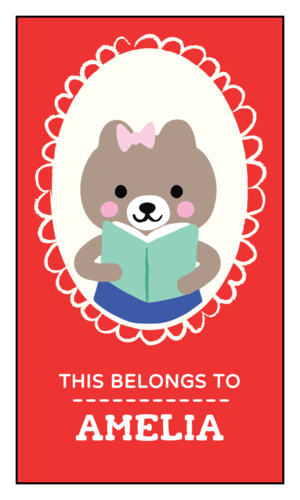 """This Belongs To"" Personalized Woodland Creatures School Supply Label"