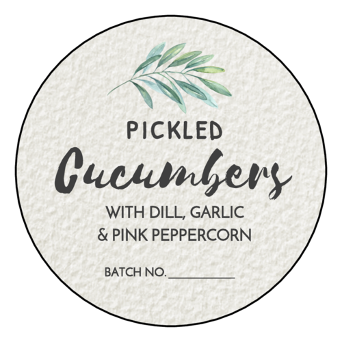 Herbal Watercolor Canning Lid Label