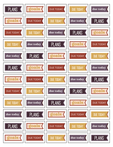 Weekly Planner Labels, Assorted