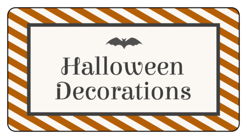 Halloween Stripe Container Organization Label