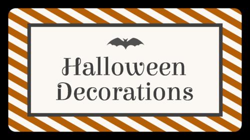 Halloween Stripe Container Organization Label