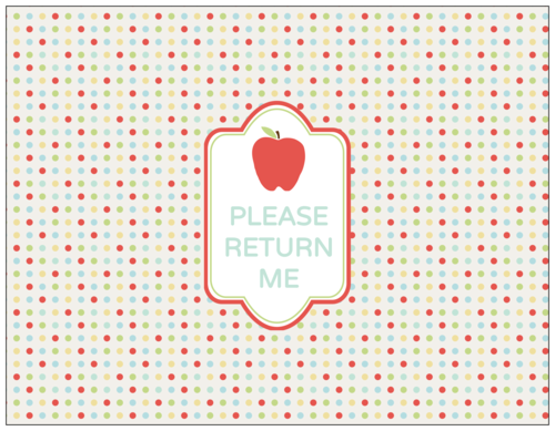 """Please Return Me"" Classroom Pencil Cup Label"