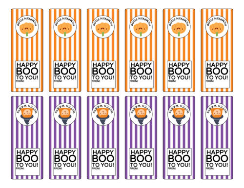 Halloween Tic Tac Favor Labels, Assorted
