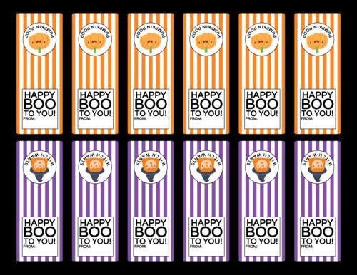 Halloween Tic Tac Favor Labels, Assorted