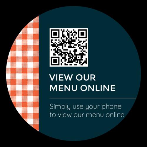 """View Our Menu Online"" QR Code Sticker"