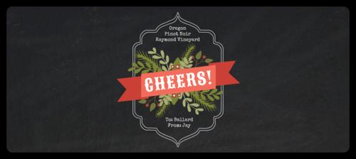 """Cheers"" Wraparound Christmas Bottle Label"